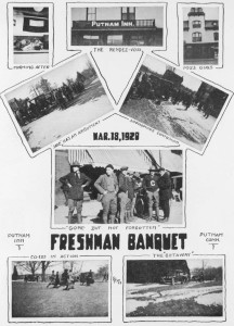 The only photographs of the Freshman Banquet to appear in a yearbook are these from the 1920/21 Nutmeg.