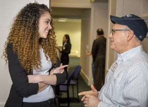 Photo from SAA's Student and Alumni Networking Night event taken Thursday, March 2, 2017 at the Alumni Center in Storrs. (G.J. McCarthy/UConn Foundation)